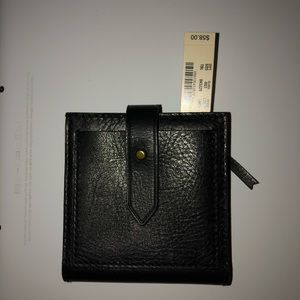 NWT MADEWELL BLACK LEATHER WALLET!!